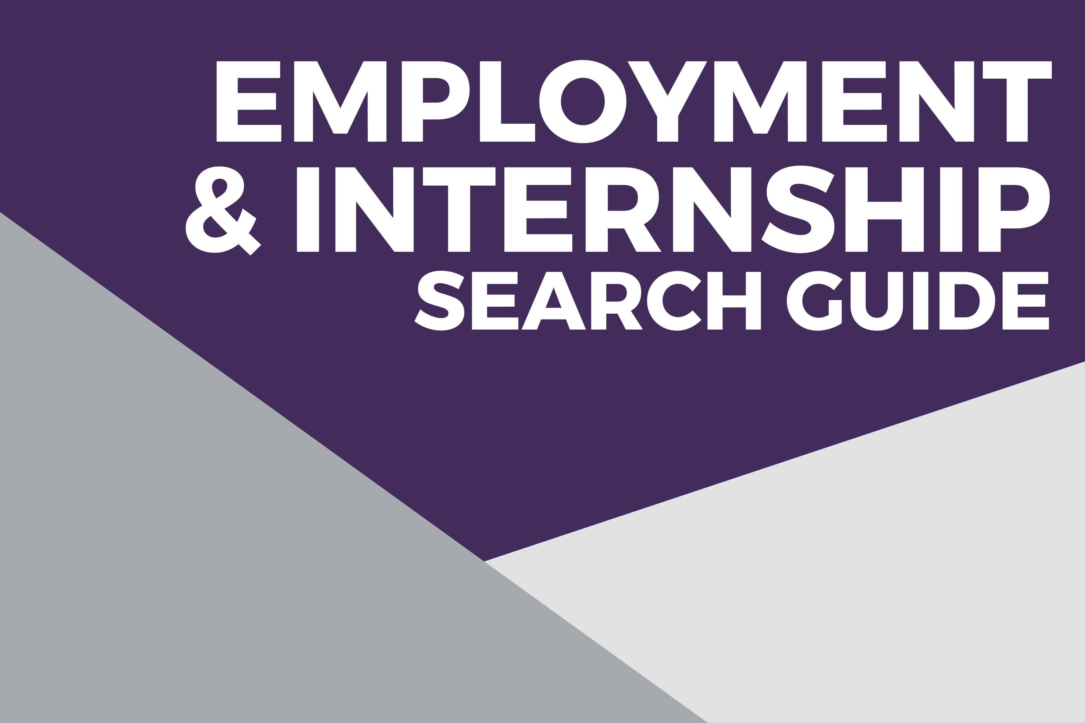 Employment & internship search guide