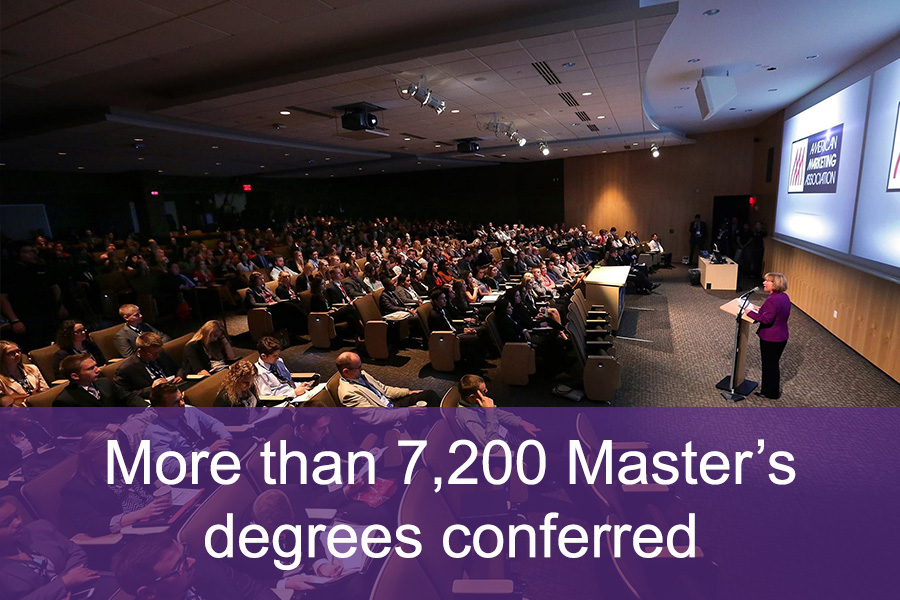 More than 7,200 Master's degrees conferred