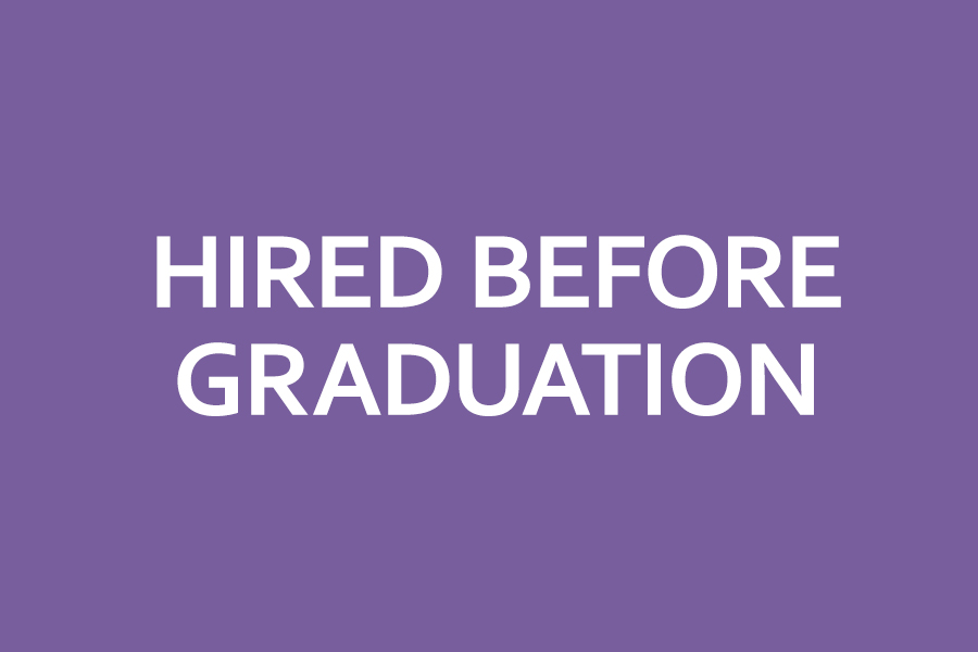 hired before graduation
