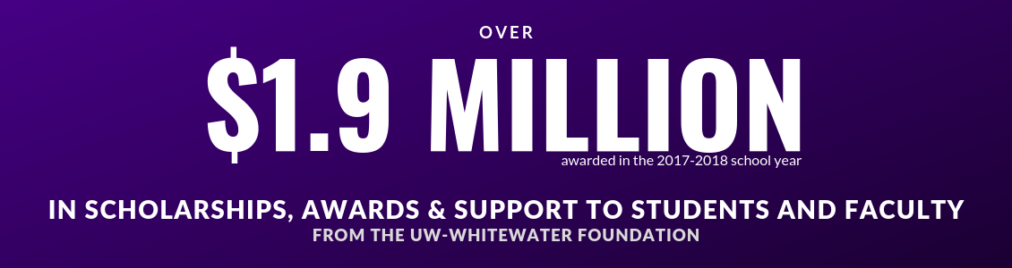 over $1.9M in scholarships awarded by the UW-Whitewater Foundation
