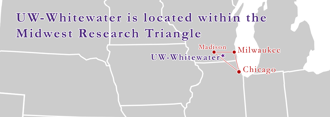 UW-Whitewater is located within the mid-west research triangle
