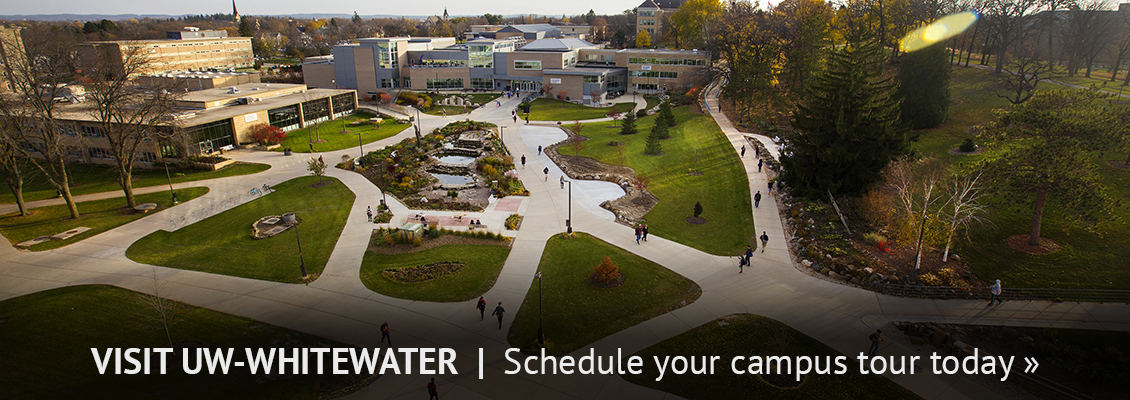 Visit UW-Whitewater | Schedule your campus tour today » a panoramic view of campus