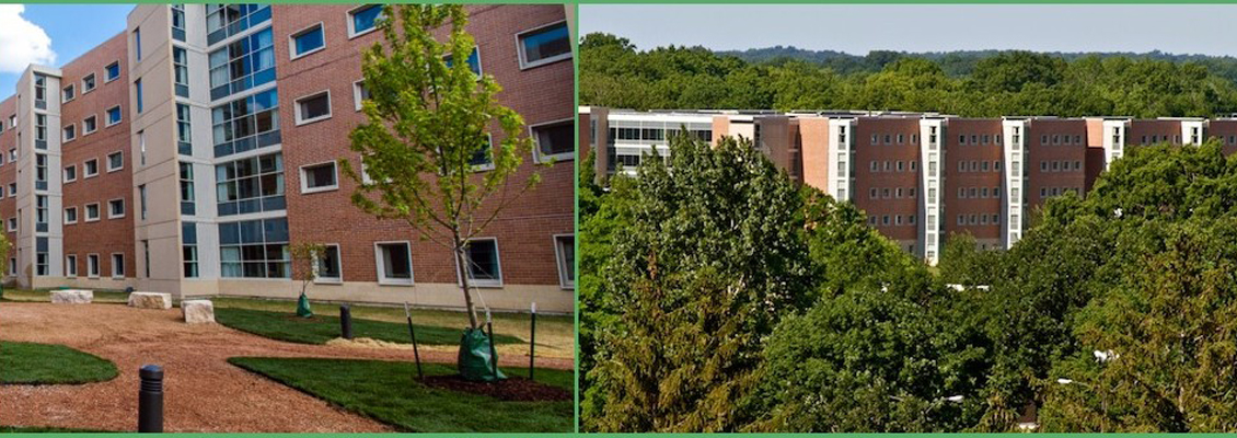 Two photos of Starin Hall
