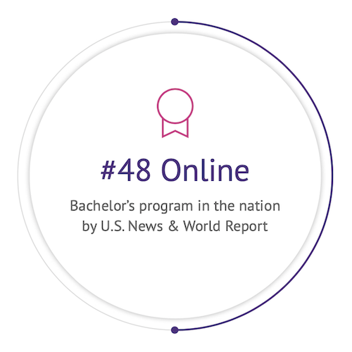#48 Online Bachelor's program in the nation by U.S. News & World Report