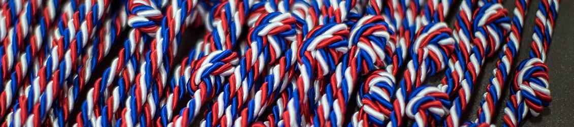 Image: Patriotic striped ropes