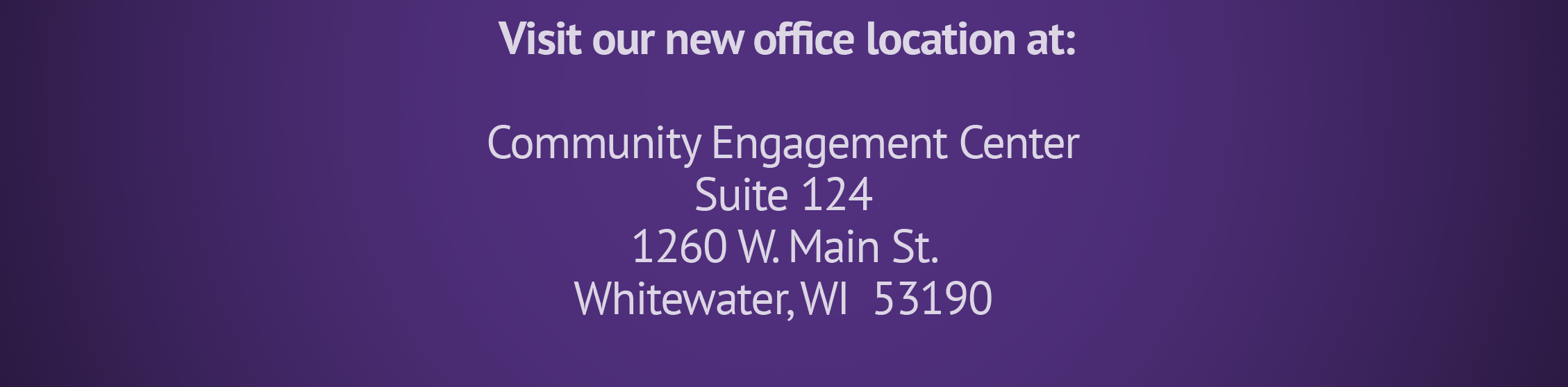 New testing office at the Community Engagement Center