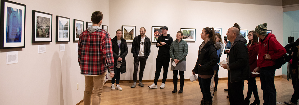 Art presentation at UW-Whitewater's gallery