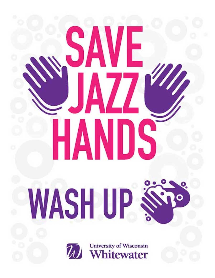 Save jazz hands, wash up