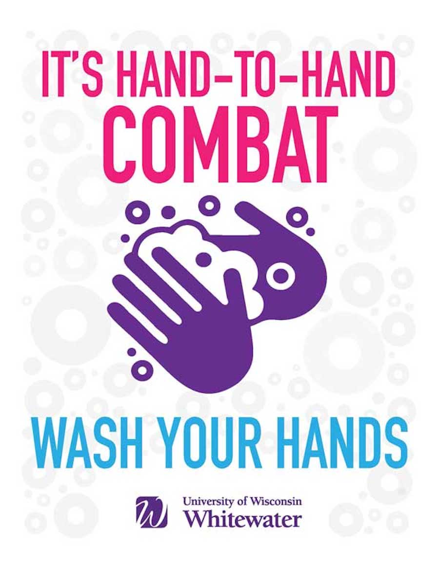 It's hand-to-hand combat, wash your hands