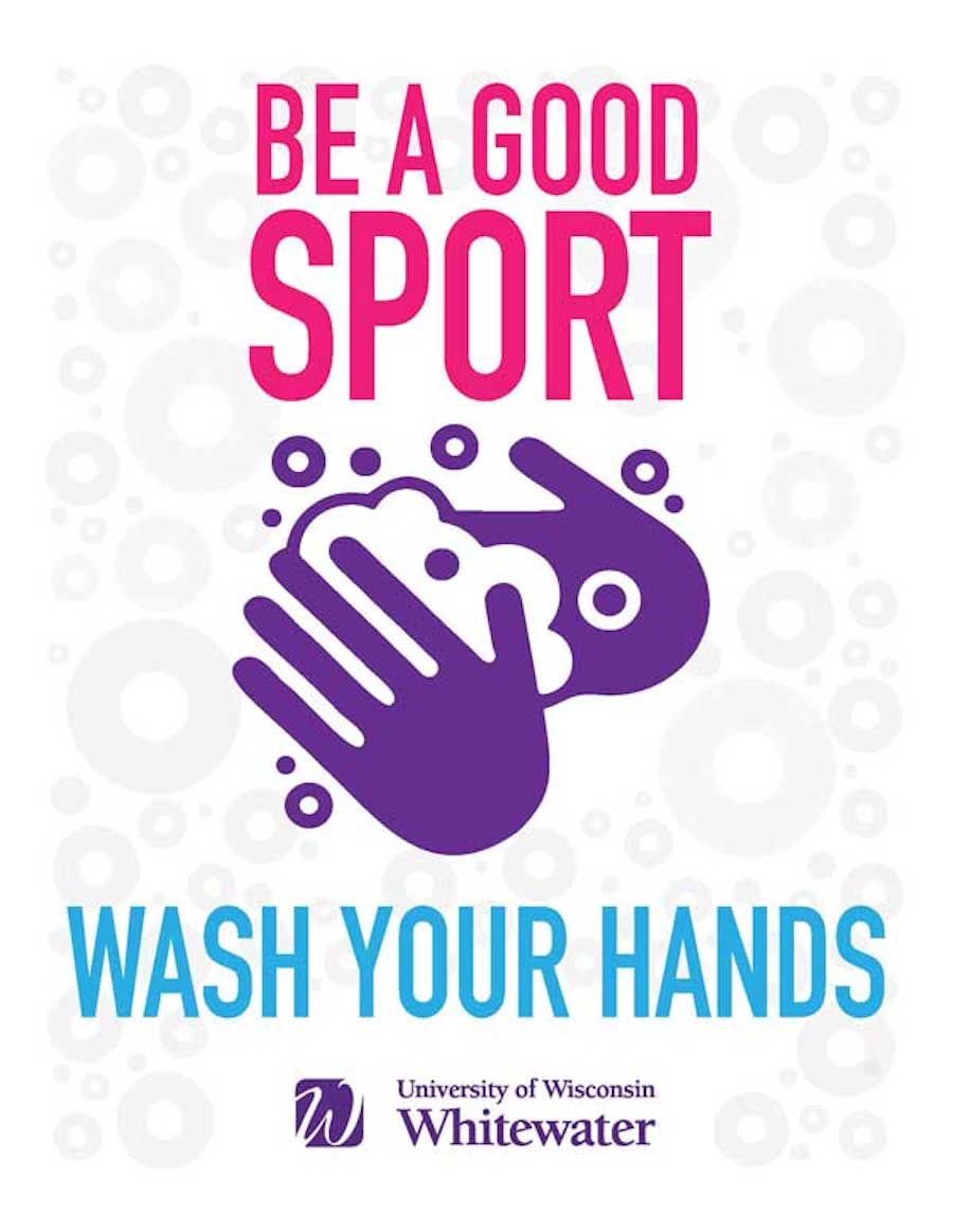 Be a good sport, wash your hands